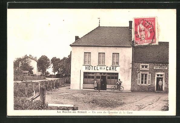 AK La Roche-en-Brénil, Un coin du Quartier de la Gare 0
