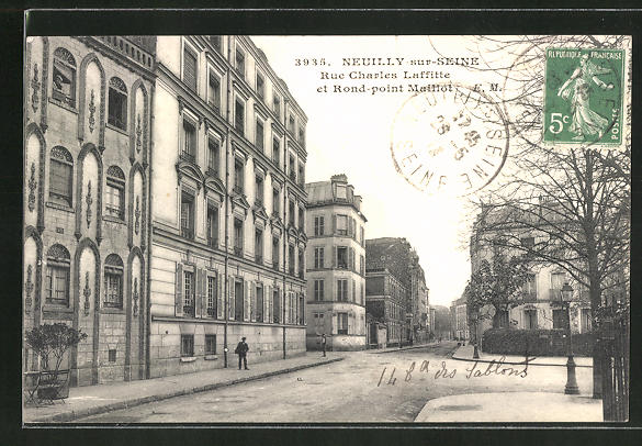 AK Neuilly-sur-Seine, Rue Charles Laffitte et Rond-Point Maillot 0