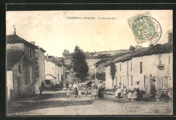 AK Charmes-la-Grande, La Grande-Rue 0