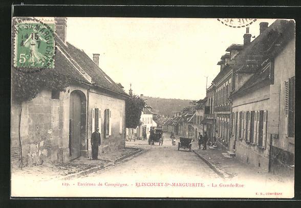 AK Elincourt-St-Marguerite, La Grande-Rue 0