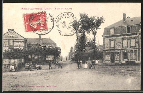 AK Saint-Gauburge, Place de la Gare 0
