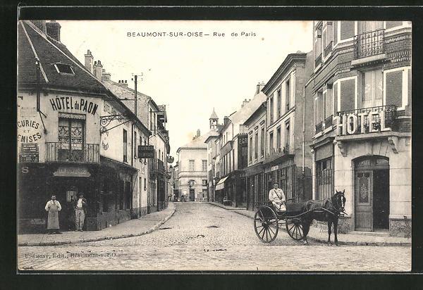 AK Beaumont-sur-Oise, Rue de Paris 0