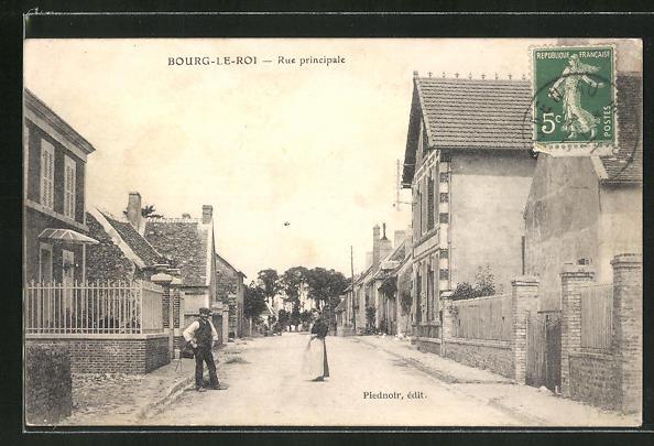 AK Bourg-Le-Roi, Rue principale 0