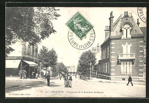 AK Chartres, Perspective de la Rue Jean-de-Beauce 0