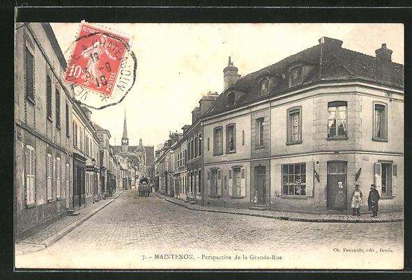 AK Maintenon, Perspective de la Grande-Rue