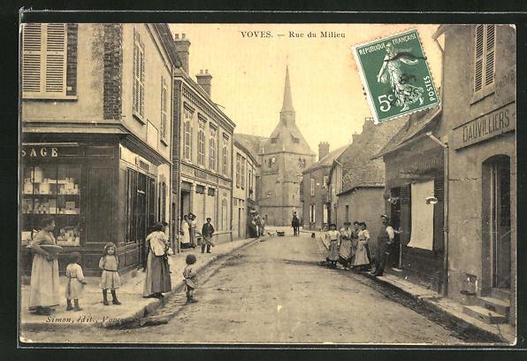 AK Voves, Rue du Milieu