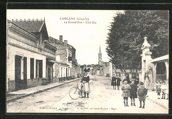 AK Carcans, La Grand'Rue, Coté Est 0