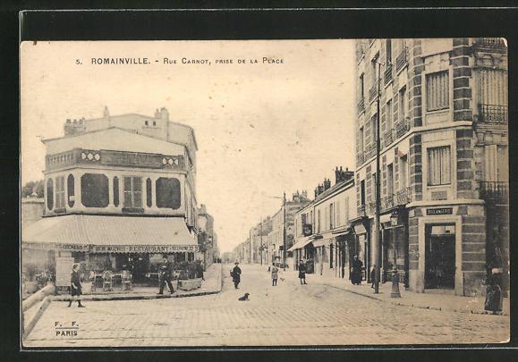 AK Romainville, Rue Carnot, Prise de la Place, Boulangerie