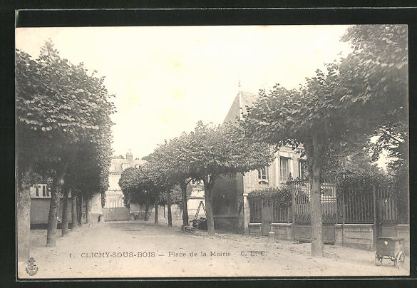 AK Clichy-Bois, Place de la Mairie 0
