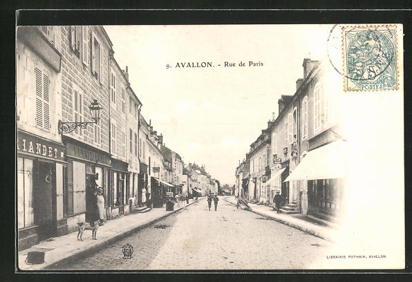 AK Avallon, Rue de Paris 0