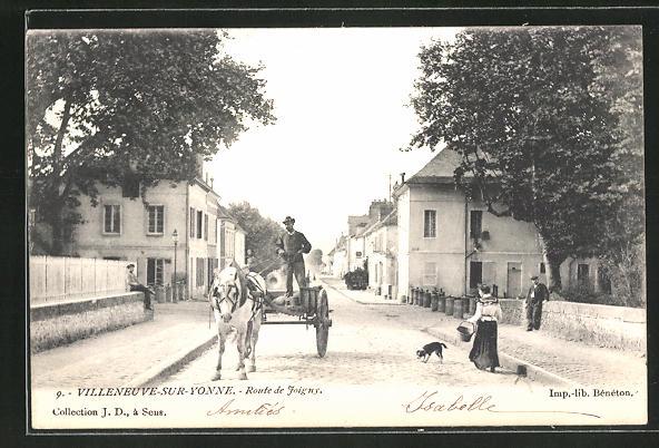 AK Villeneuve-sur-Yonne, Route de Joigny 0