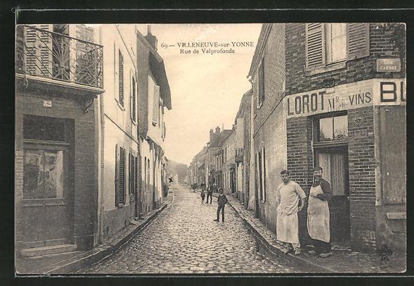 AK Villeneuve-sur-Yonne, Rue de Valprofonde 0