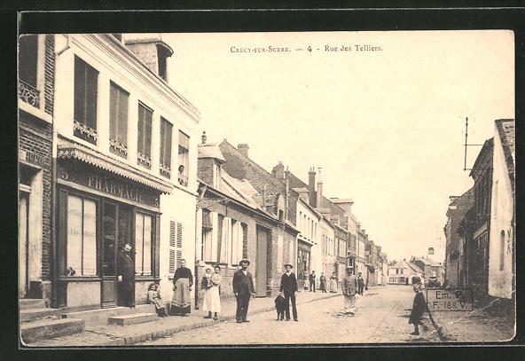AK Crecy-sur-Serre, Rue des Telliers