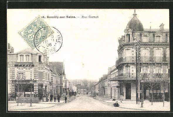 AK Romilly-sur-Seine, Rue Carnot 0