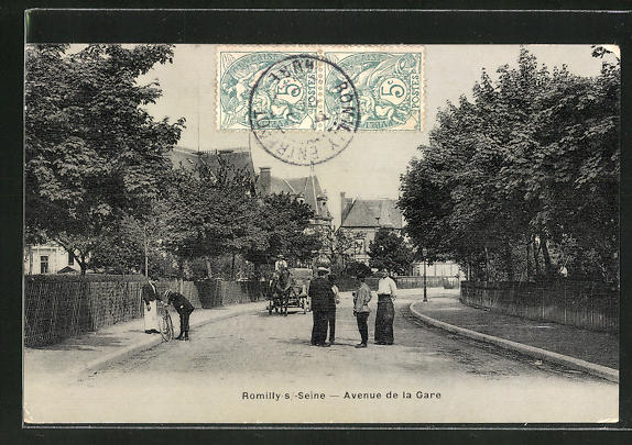 AK Romilly-sur-Seine, Avenue de la Gare 0