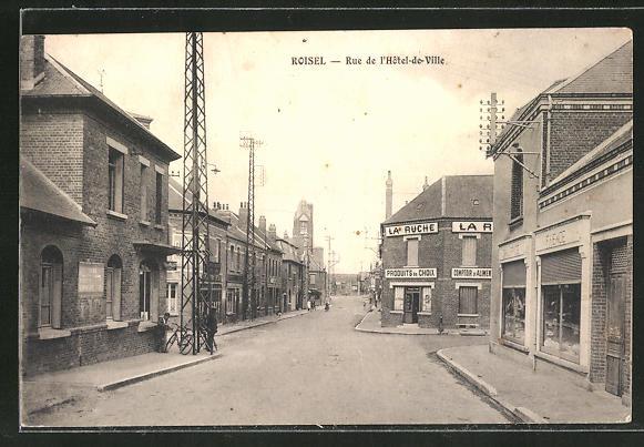 AK Roisel, Rue de L'Hotel-de-Ville 0