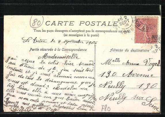 AK Le Titre, Route Nationale de Paris a Calais 1