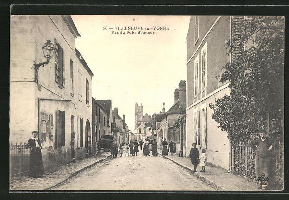 AK Villeneuve-sur-Yonne, Ru du Puits d'Amour 0