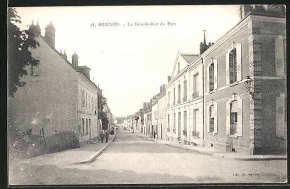 AK Brienon, La Grande-Rue du Port 0