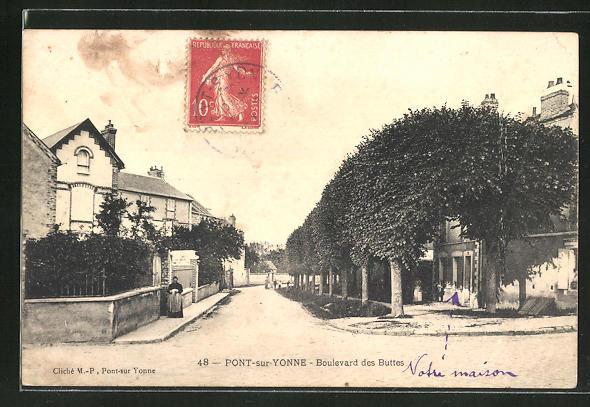 AK Pont-sur-Yonne, Boulevard des Buttes 0