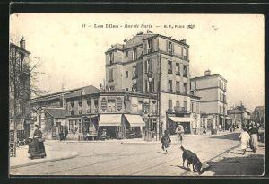 AK Les Lilas, Rue de Paris