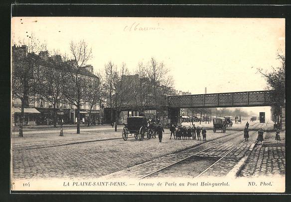 AK La Plaine-Saint-Denis, Avenue de Paris au Pont Hainguerlot
