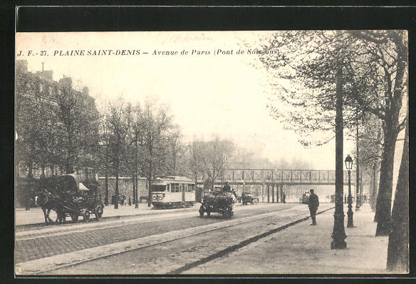 AK Plaine-Saint-Denis, Avenue de Paris, Pont de Soissons 0
