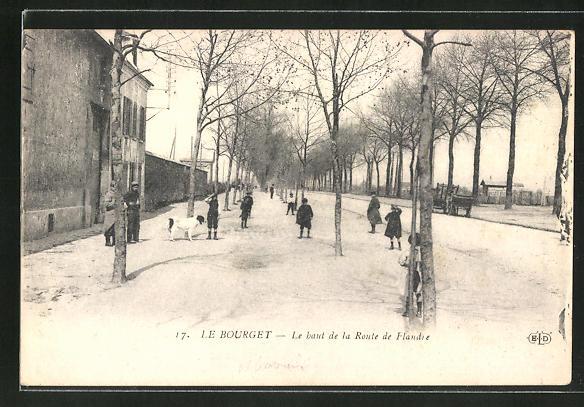 AK Le Bourget, Le haut de la Route de Flandre