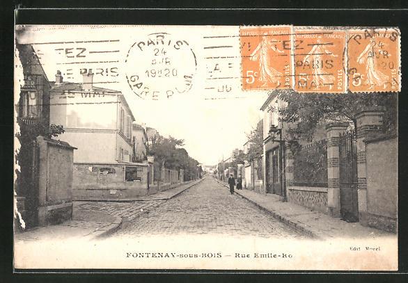 AK Fontenay-sous-Bois, Rue Emile-Ro 0
