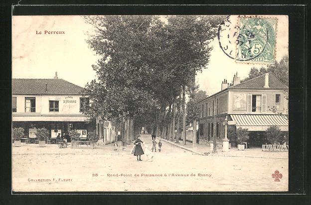 AK Le Perreux, Rond-Point de Plaisance a l'Avenue de Rosny 0