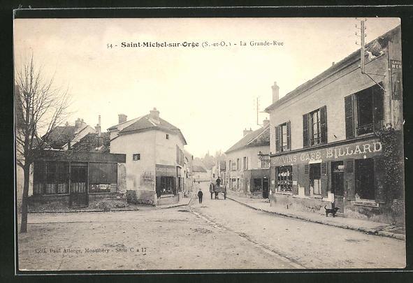 AK Saint-Michel-sur-Orge, La Grande Rue 0