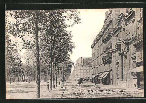AK Neuilly-sur-Seine, L'Avenue de Neuilly et la Banque de France