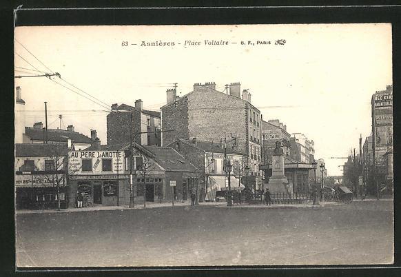 AK Asnieres, Place Voltaire 0