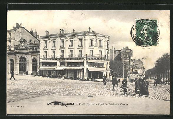 AK Saint-Cloud, Place d'Armes, Quai du President Carnot 0
