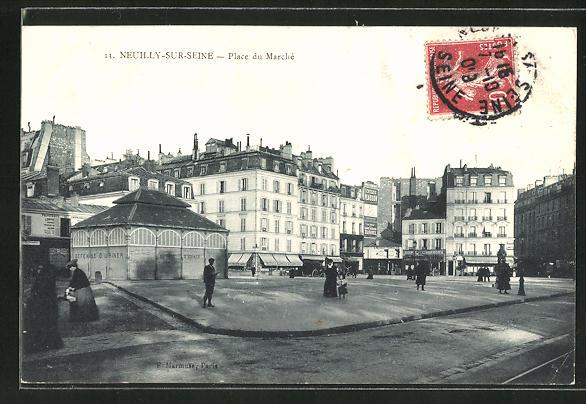 AK Neuilly-sur-Seine, Place du Marché 0