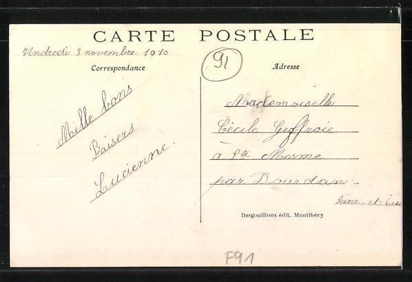AK Montlhery, Kermesse, Fete Historique 1910, Le Cortege rue Luisant, passage de Philippe V d'Espagne 1