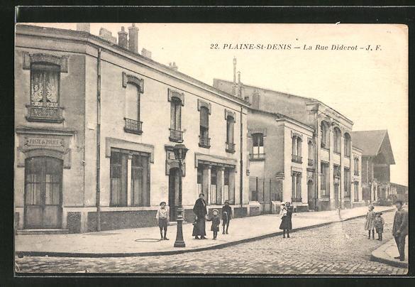 AK Plaine-St-Denis, La Rue Diderot 0