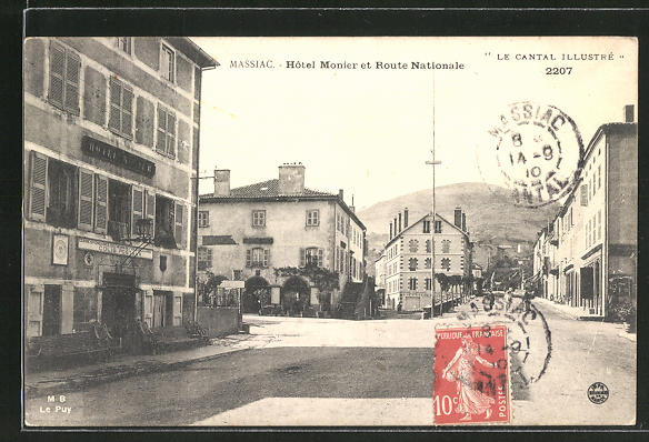 AK Massiac, Hotel Monier et Route Nationale 0