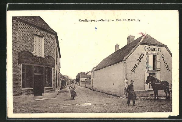 AK Conflans-sur-Seine, Rue de Marcilly 0