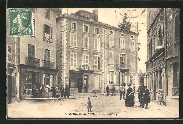 AK Craponne-sur-Arzon, Le Faubourg 0