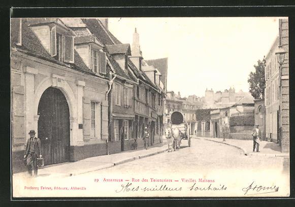 AK Abbeville, Rue des Teinturiers, Vieilles Maisons 0