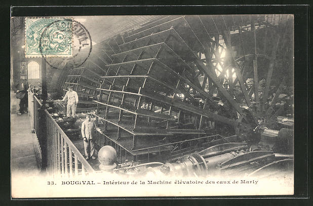 AK Bougival, Interieur de la Machine elevatoire des eaux de Marly