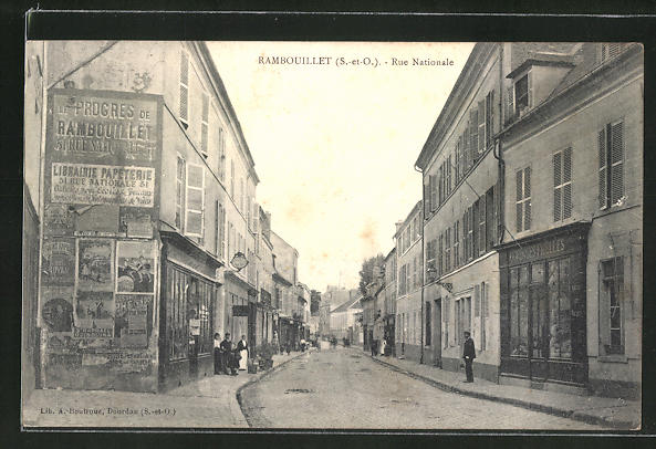 AK Rambouillet, Rue Nationale 0