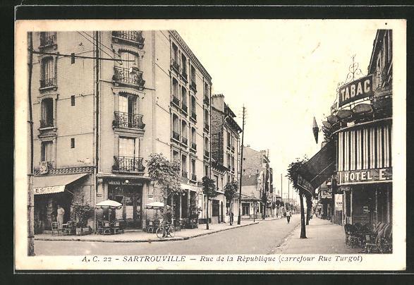 AK Sartrouville, Rue de la Republique 0