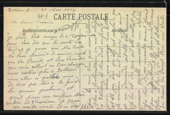 AK Estissac / Aube, Rue Costel-Laurent 1