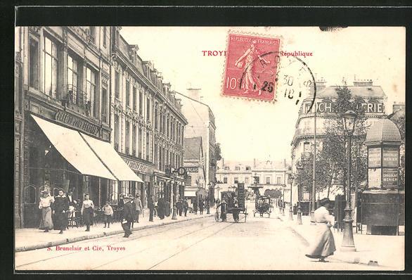 AK Troyes, Rue de la Republique 0