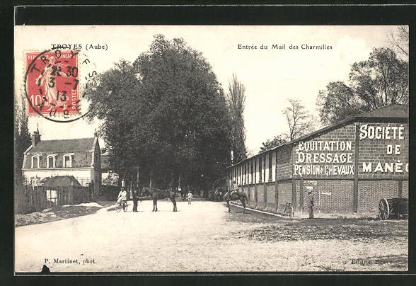 AK Troyes / Aube, Entrée du Mail des Charmilles 0