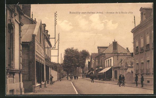 AK Romilly-sur-Seine / Aube, Avenue de la Boule d'Or 0