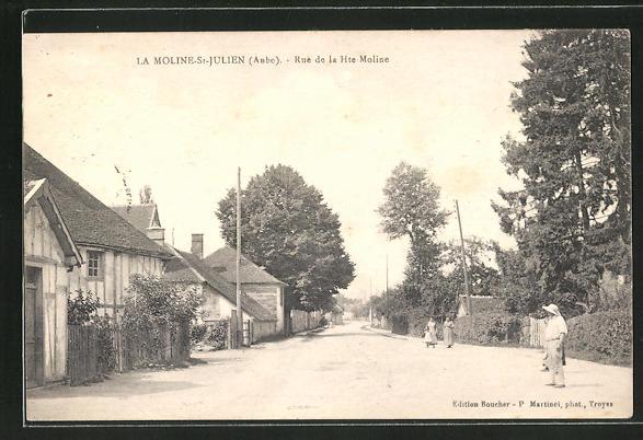 AK LA Moline-St-Julien / Aube, Rue de la Hte-Moline 0