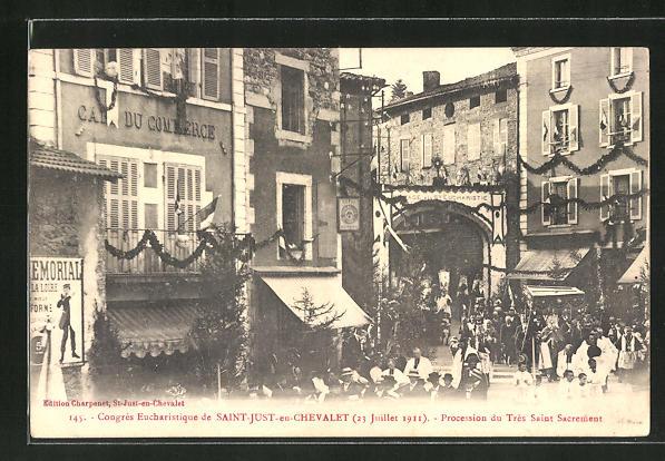 AK Saint-Just / Chevalet, Procession du Très Saint Sacrement 0